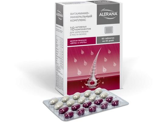 Витамины для роста волос Алерана