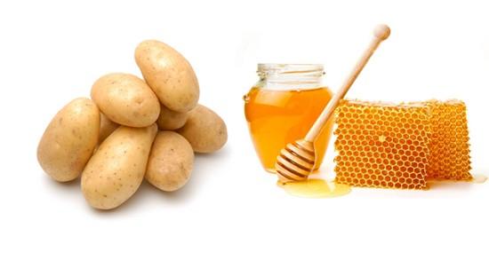 Картофельно-медовая смесь