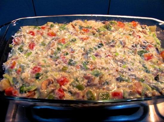 Запекаем овощи с сыром в духовке