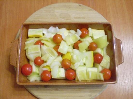 перцы и кабачки, томаты Черри