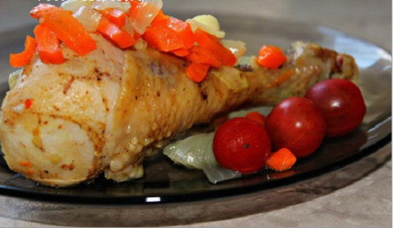 Курица с овощным ассорти