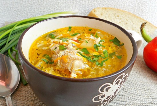суп из филе минтая