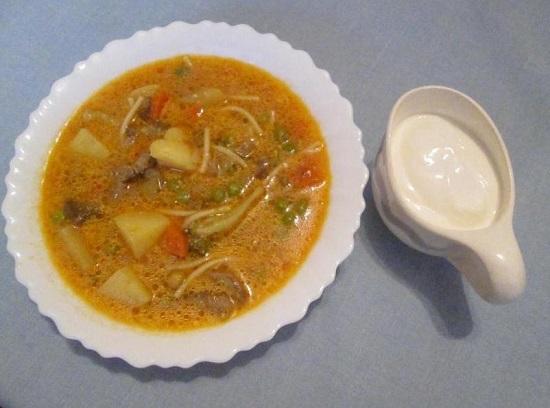 Грибной суп из вешенок: рецепт с фото