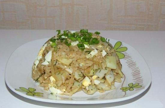 Фасоль с рисом по-азиатски