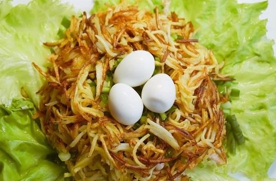 Салат с перепелиными яйцами: рецепт с фото
