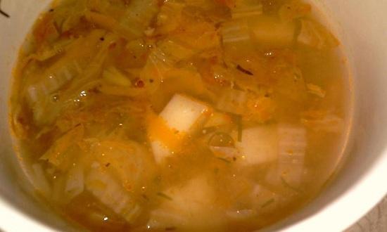 Суп с пекинской капустой: рецепт с фото