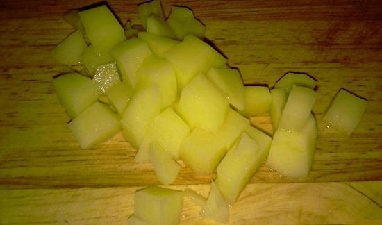 Шинкуем картофель брусочками