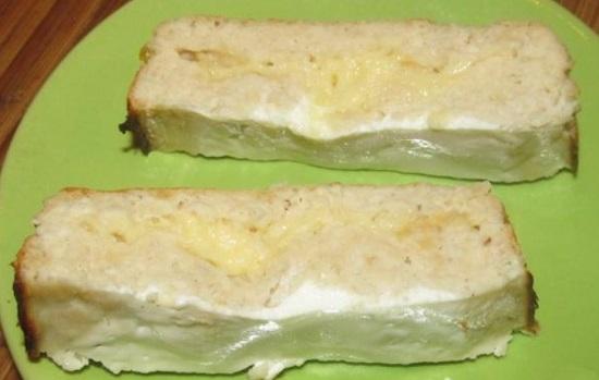 сырное суфле с куриным филе